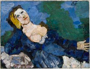 Frau in Blau, 1919