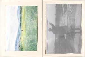 Heroische Sinnbilder, Seite 9: (Selbstbildnis in Landschaft), 1969