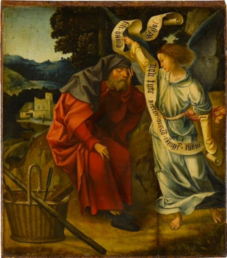 The Angel Appears to Joseph in his Dream ; Joseph's Return to Mary