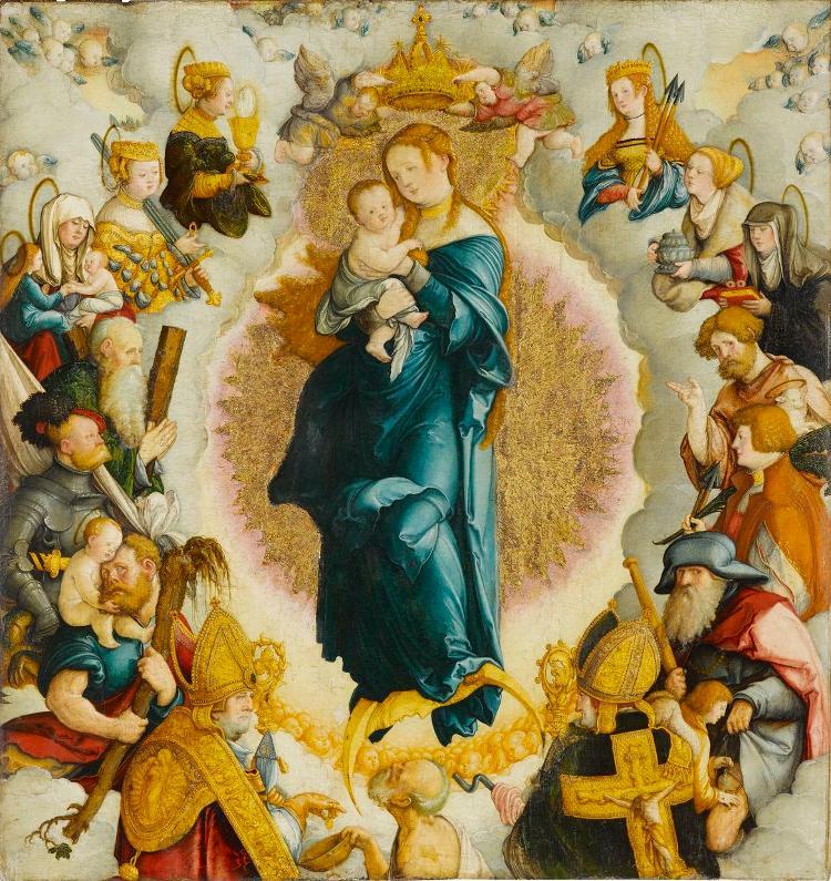 Wildensteiner Altar: Madonna mit den vierzehn Heiligen des Zimmernschen Hauses
