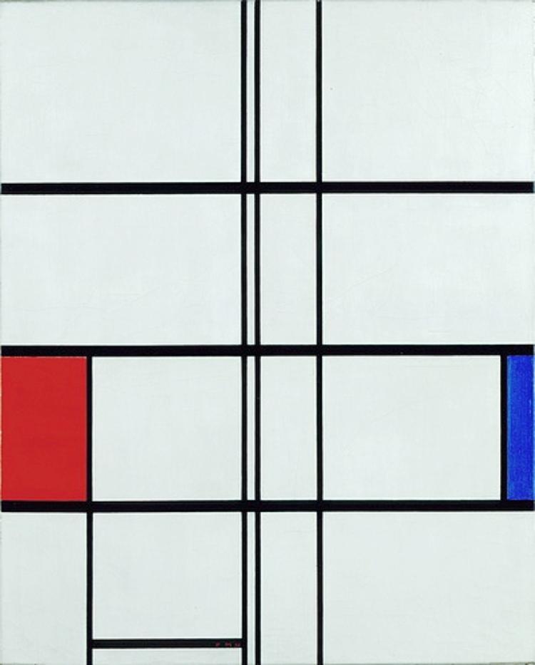 Komposition in Weiß, Rot und Blau (Composition en blanc, rouge et bleu)