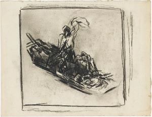 Die Schiffbrüchigen; Verso: Sturmflut, 1928