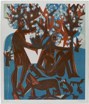Frühling - Arkadia  (Blatt 2 in: Baumblüte), 1963