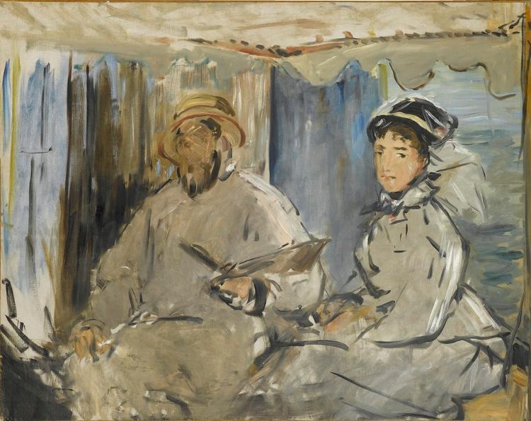 Der Maler Monet in seinem Atelier