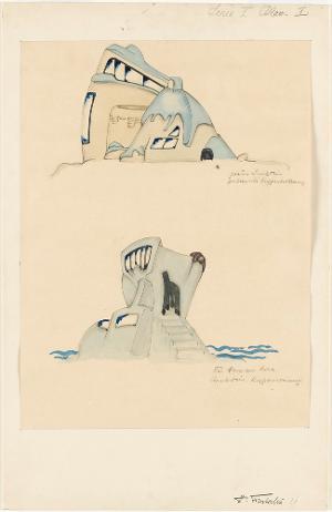 Architektur. Das Haus am Meer (Serie I, Blatt 1), 1919