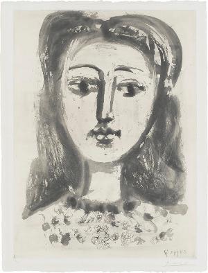 Portrait de Françoise aux cheveux flous (Françoise mit weichen Haaren) , 24.6.1947