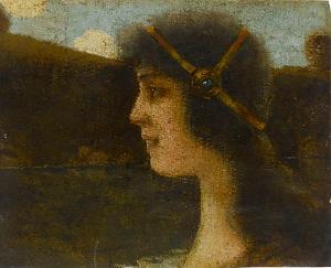Kopf einer jungen Frau, nicht datiert