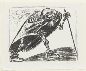 Der wandernde Tod (Blatt 1 in: Arno Holz zum sechzigsten Geburtstage), 1923