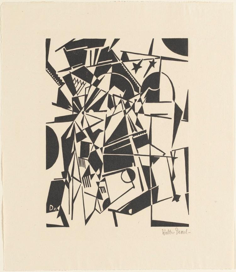 Abstrakte Komposition (Sternenbrücke) (Blatt 4 in: Bauhaus-Drucke. 3te Mappe)