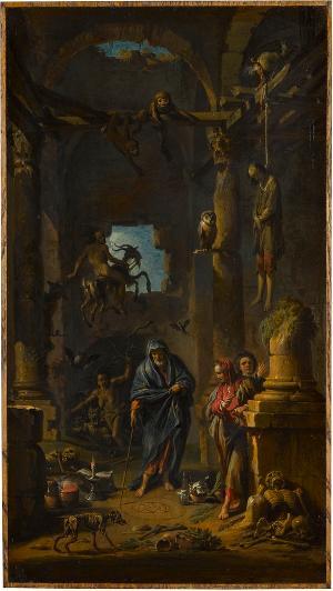 Magische Szene, um 1740/41
