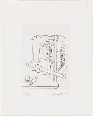 Bohrmaschine I (Die Intellektuelle), nicht datiert
