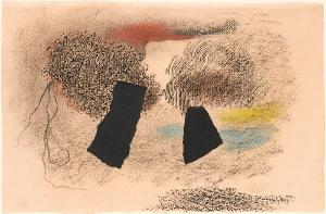 Zwei Punkte mit Farben, 1955