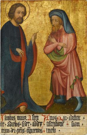 Sogenannter Ulmer Hochaltar: Jacobus maior und Amos, um 1400
