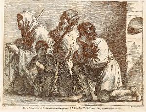 Eine Familie in Anbetung (Taf. 13 in: Raccolta di alcuni disegni del Barberi da Cento detto il Guercino), 1764 (um 1780)