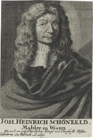 Bildnis Johann Heinrich Schönfeld, 17./18. Jh.