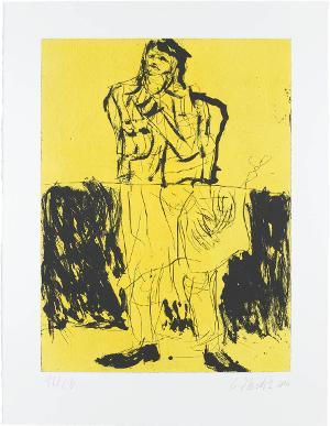 Maler im Mantel  (Blatt 7 aus: Remix), 2006