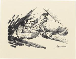 Schnelligkeit (Dinamismo di un ciclista) (Blatt 2 in: Bauhaus-Drucke. 4te Mappe), 1913 (1923)
