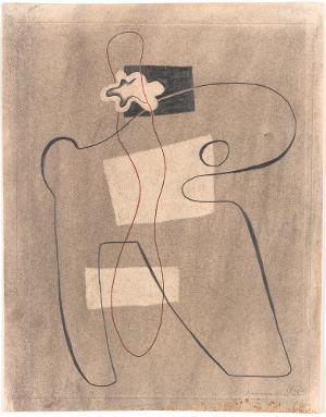 Linienkomposition mit Muschelform, 1932