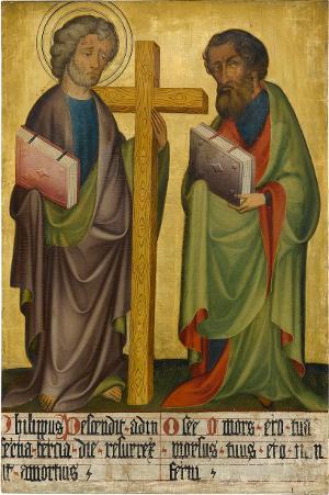 Sogenannter Ulmer Hochaltar: Philippus und Hosea, um 1400