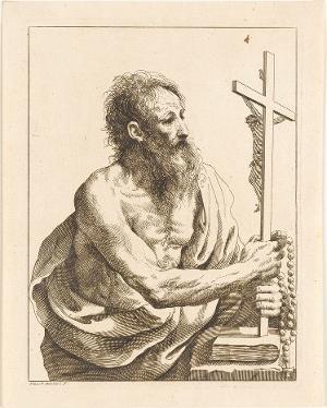 Der heilige Hieronymus mit Kreuz, nicht datiert