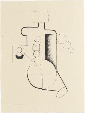 Sitzende Figur (Visieren) (Blatt 2 in: Bauhaus-Drucke. 3te Mappe), 1921