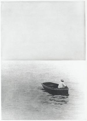 Boot (mit stehender Figur) (Blatt 7 in: Hegels Keller), 1986