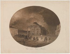 """Das """"Kleine Theater"""" in Stuttgart, um 1790"""