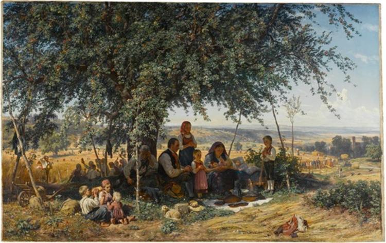 Mittagsgebet bei der Ernte