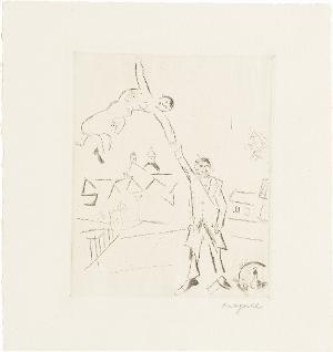 Spaziergang II (Selbstbildnis mit Frau) (Blatt 4 in: Bauhaus-Drucke. 4te Mappe), 1922 (1923)