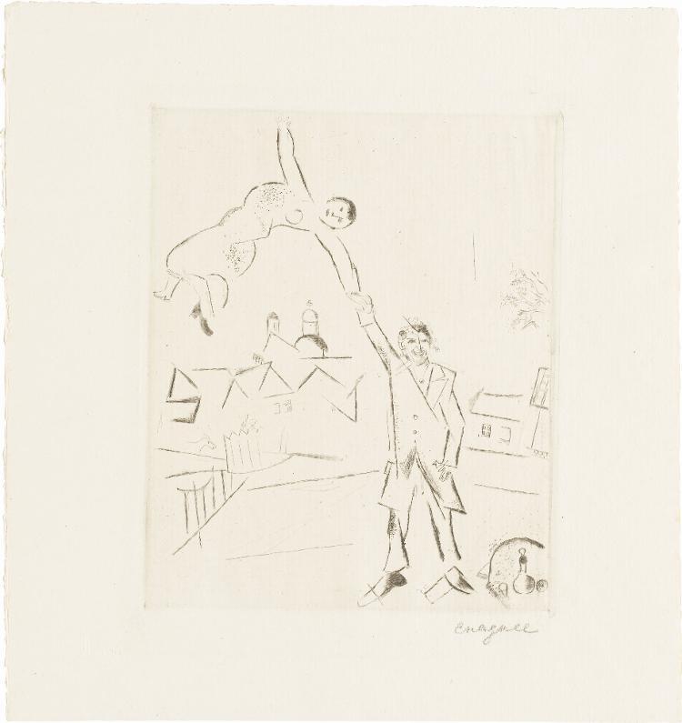 Spaziergang II (Selbstbildnis mit Frau) (Blatt 4 in: Bauhaus-Drucke. 4te Mappe)