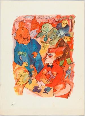 Ach, knallige Welt, du seliges Abnormitätenkabinett (Blatt 14 in: Ecce Homo), 1916 (1923)