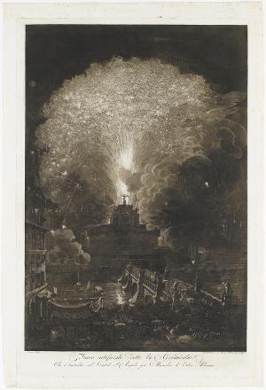 Fuoco artificiale detto la Girandola, 1792
