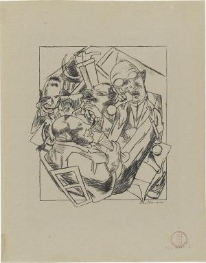 Lili von Braunbehrens, Stadtnacht, Blatt 1: Trinklied, 1921