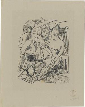 Lili von Braunbehrens, Stadtnacht, Blatt 2: Stadtnacht, 1921