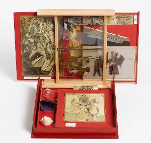 de ou par MARCEL DUCHAMP ou RROSE SÉLAVY / Boîte-en-Valise (Von oder durch MARCEL DUCHAMP oder RROSE SELAVY / Schachtel im Koffer), 1966