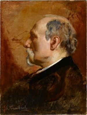 Bildnis eines älteren Herrn, um 1860-1864