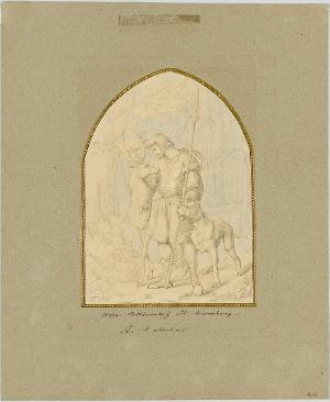 Der heilige Hubertus, 1835