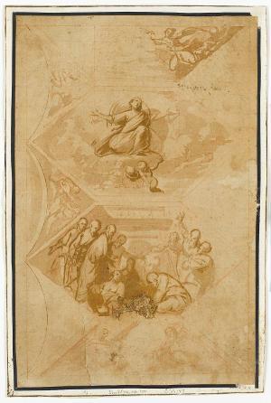 Deckenentwurf einer Himmelfahrt Mariae, um 1590/1600