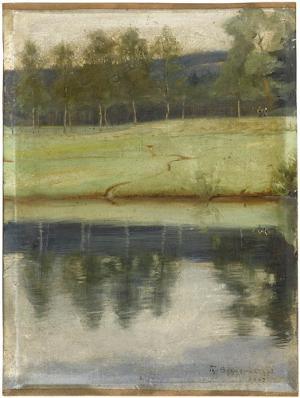 Weiher, Studie im Fichtelgebirge, 1897