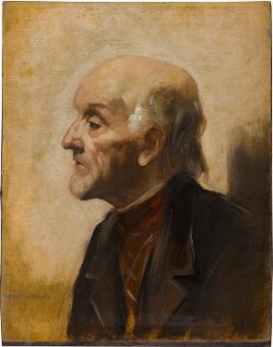 Brustbild eines alten Mannes, Um 1880