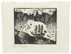 Vulkan (Blatt 2 in: ZWÖLF HOLZSCHNITTE v. LYONEL FEININGER), 1918 (1921)