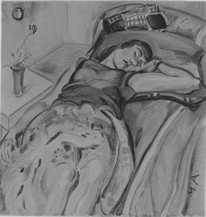 Ruhende (Schlummernde), 1929