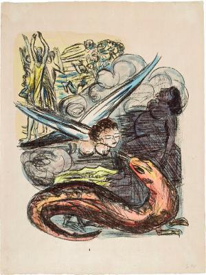 Apokalypse: Die Frau, ihr Kind und der Drache (Offenbarung XII, 14), 1941/42