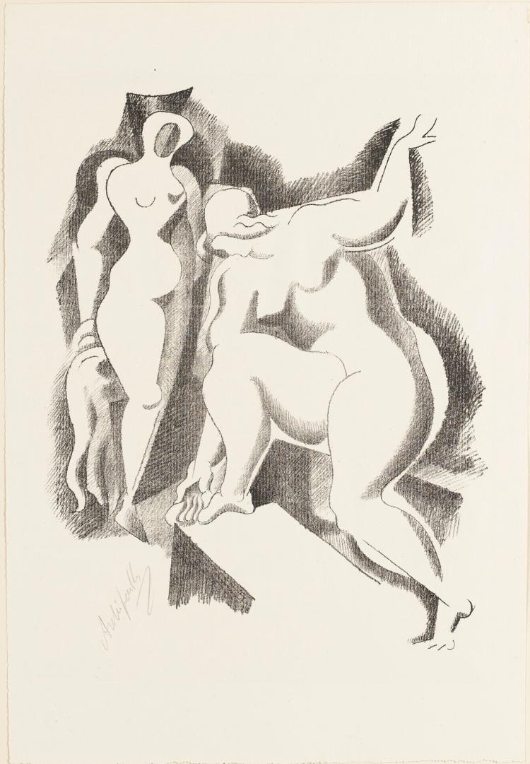 Zwei weibliche Akte (Blatt 1 in: Bauhaus-Drucke. 4te Mappe)