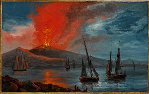 Ausbruch des Vesuv, 19. Jh.