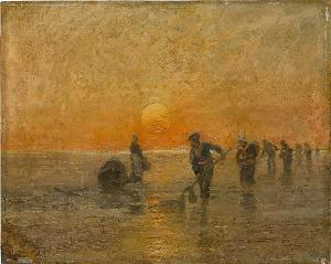 Fischer am Strand, nicht datiert