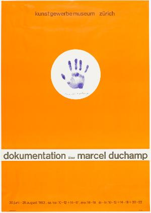 Plakat: Dokumentation - Marcel Duchamp, 1960