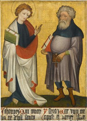 Sogenannter Ulmer Hochaltar: Johannes der Evangelist und der Prophet Jesaias, um 1400