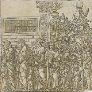 Die Gefangenen (Blatt 7 in: Der Triumphzug Caesars), 1598/99