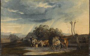 Landschaft mit Kühen, nicht datiert